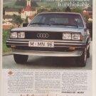 Vintage Magazine Print Ad 1982 Audi