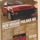 Vintage Magazine Print Ad Nissan Pulsar NX