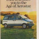 1986 Ford Aerostar vintage Magazine Advertisement