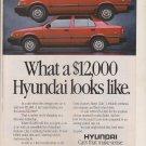 1988 Hyundai Magazine Print Ad