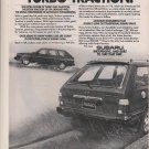 1984 Subaru Introduces Turbo Traction Vintage Car Ad