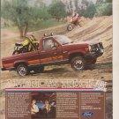 1984 Ford Ranger Ad Advertisement Vintage