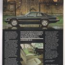 1985 JAGUAR XJ-S Luxury Car & Mansion VINTAGE AD