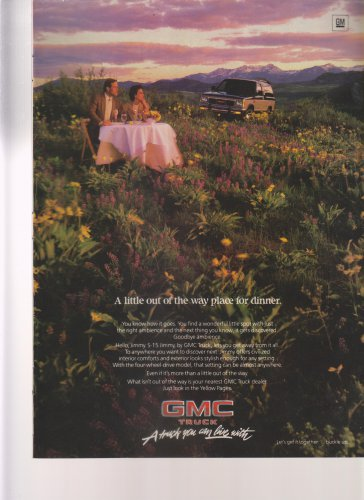 1986 GMC S-15 Jimmy Truck - fields - Classic Vintage Advertisement