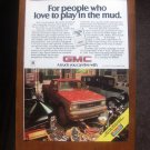 1985 GMC S-15 4x4 Club Coupe Pickup - Advertisement