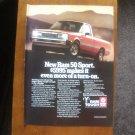 1985 Dodge Ram 50 Sport - Mountain - Classic Vintage Advertisement Ad