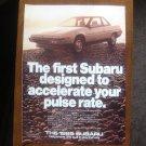 1985 Subaru XT Magazine Advertisement