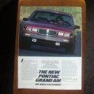 1985 Pontiac Grand Am - Classic Vintage Advertisement Ad