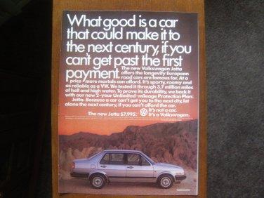1985 VW Volkswagen Jetta - Original Car Advertisement Print Ad