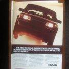 1985 SAAB 900 Turbo - 16-valve - Classic Vintage Car Advertisement Ad