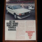 1978 VW Volkswagen Scirocco Nancy James Race Print Ad