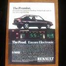 1986 Renault Encore - Promise - Classic Vintage Advertisement