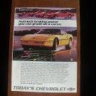 1986 Chevrolet Corvette - yellow - Classic Vintage Advertisement A