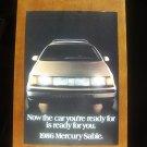 1986 Mercury Sable Classic Vintage Advertisement Car