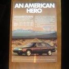 1986 Chrysler LeBaron GTS - Classic Vintage Car Advertisement Ad