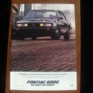 1986 Pontiac 6000 GTE - pure - Classic Vintage Advertisement Ad