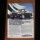 1986 NISSAN MAXIMA SE ORIGINAL VINTAGE AD