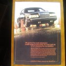 1986 Lincoln Mark VII black car photo vintage print Ad