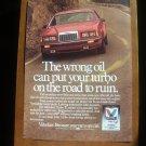1986 Valvoline Ford Thunderbird - Classic Vintage Advertisement Ad