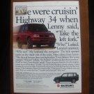 """1992 Suzuki 4-Dr Sidekick 4x4 """"Everyday vehicles that aren't"""" Vintage Car Ad"""