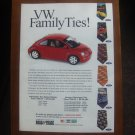 VW FAMILY TIES MAGAZINE AD