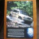 1999 Suzuki Grand Vitara V6 Car Vintage Magazine Print Ad