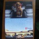 1995 cute Golden Retriever photo GMC Yukon Truck vintage print Ad