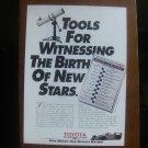 toyota motor sports magazine print advertisement