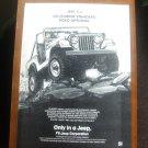 Jeep CJ Vintage Magazine Advertisement