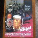 Bass Ale Vintage Magazine ADvertisement (2.99)