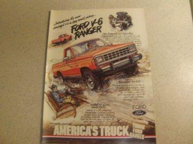 Ford Ranger Ad Advertisement Vintage