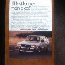 1984 Volkswagen advertisement page, VW Rabbit