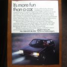 1984 VOLKSWAGEN RABBIT ORIGINAL AD more fun