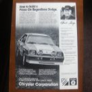 1983 CARROLL SHELBY DODGE CHARGER ***ORIGINAL AD***