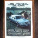"""1980 Volvo """"A diesel you can believe in"""" equestrian original print ad"""