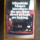 Mitsubishi  Original Car Advertisement Print Ad