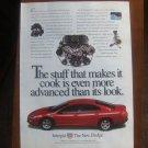 Vintage Magazine Advertisement Dodge Intrepid