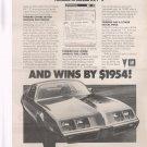 Pontiac Firebird Vintage Magazine ad advertisement