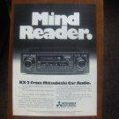 "mitsubishi car audio MAGAZINE ADvertisement ""Mind Reader"""