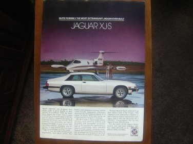 1978/1979 white JAGUAR XJ-S sports coupe Ad