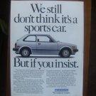 1982 HONDA CIVIC advertisement, Honda Civic GL, white sports car?