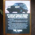 1982 Volvo original advertisement page, VOLVO Turbo sedan, 55 MPH