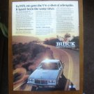 1982 Buick REGAL original advertisement page, Buick Regal V6 on sunny road
