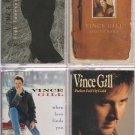 VINCE GILL CASSETTE LOT-WHEN LOVE FINDS YOU-HIGH LONESOME SOUND-SOUVENIRS &