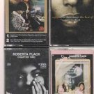 ROBERTA FLACK CASSETTE LOT-THE BEST OF-FIRST TAKE-SOFTLY WITH & CHAPTER TWO (4)