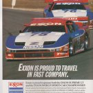 Exxon World Sports Car Championship Vintage Magazine Advertisement