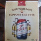 Miller HIgh Life Beer Magazine Advertisement-Save Your Caps, Support the Vets