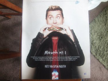 Keep an open mouth.  Miracle Whip Magazine Advertisement
