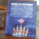Bud Light Only in March Magazine Advertisement