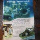 Bermuda. Get away to it all! Vintage Magazine Advertisement ad